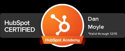 Dan Moyle HubSpot Certification